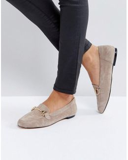 Taupe Suede Loafers