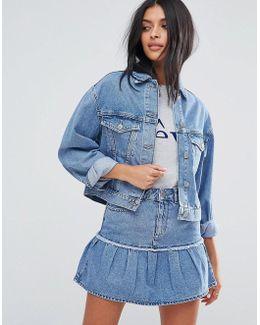 Denim Jacket In Midwash Blue