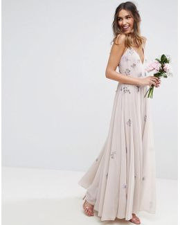 Wedding Embellished Cami Maxi Dress