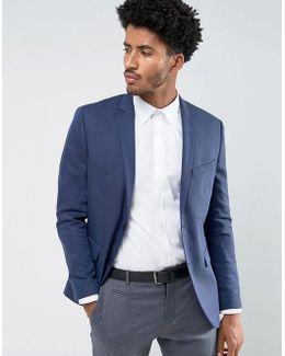 Premium Slim Suit Jacket In Texture
