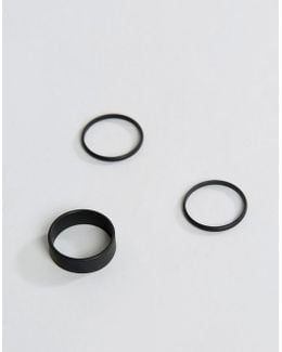 Ring Pack In Matte Black