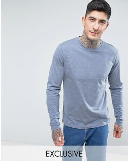 Long Sleeve Marl T-shirt In Spruce Green