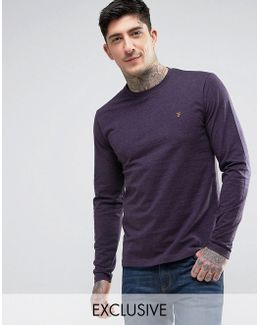 Long Sleeve Marl T-shirt In Fig