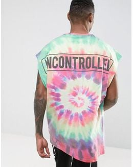 Extreme Oversized T-shirt With Tie Dye & Uncontrolled Back Print