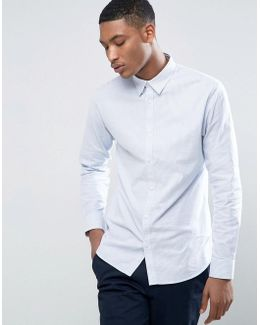 Slim Oxford In With Stretch