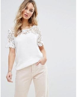 Lace Detail Shell Top