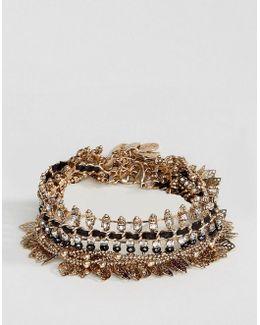 Gold Leaf Statement Bracelets