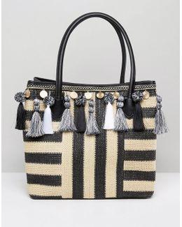 Taurano Tassel Straw Bag