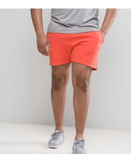 Plus Jersey Short In Orange