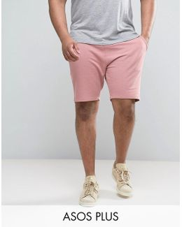 Plus Jersey Skinny Shorts In Pink