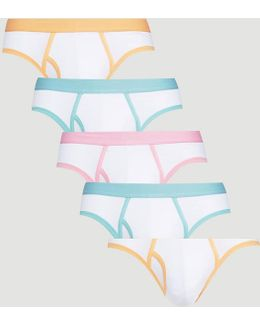 Briefs With Pastel Binding 5 Pack