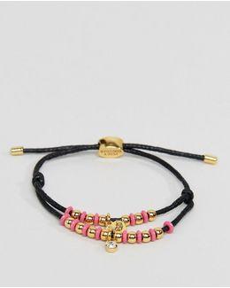 Multi Strand Beaded Cord Bracelet