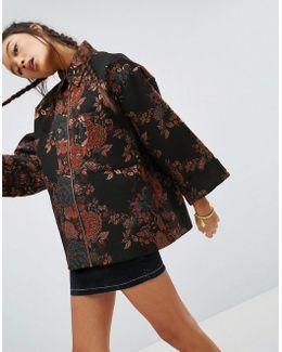 Kimono Jacket In Jacquard