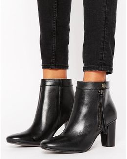 H By Hudson Smooth Leather Heel Boots