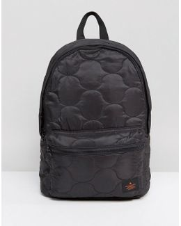 Backpack In Black Quilted Design