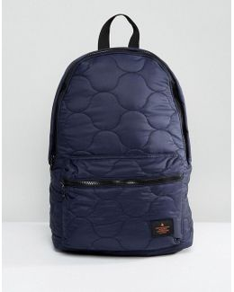 Backpack In Navy Quilted Design