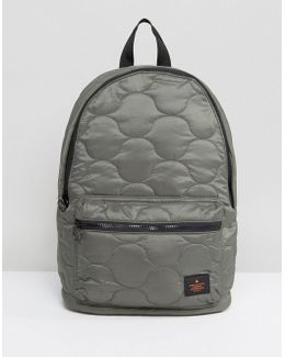 Backpack In Khaki Quilted Design