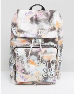 Backpack With All Over Graffiti Design
