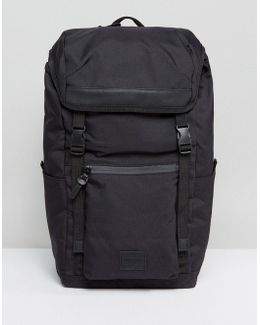 Hiker Backpack In Black With Coated Zips