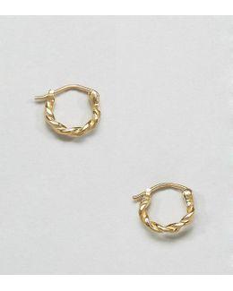Gold Plated Sterling Silver Vintage 10mm Hoop Earrings