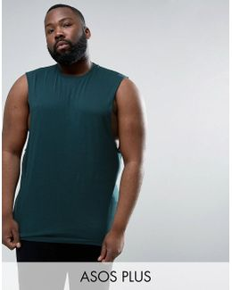 Plus Longline Singlet With Dropped Armhole