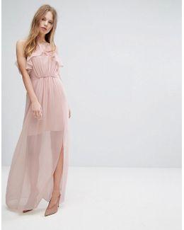 Pink Frilled Maxi Dress