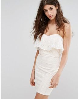 Lace Bandeau Mini Dress