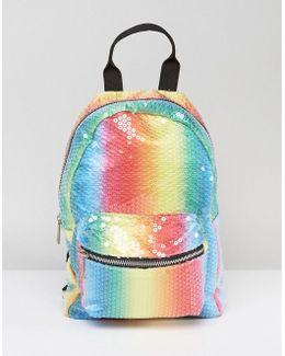 Mini Festival Sequin Rainbow Backpack
