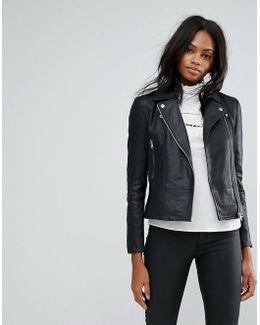 Sophie Soft Leather Biker Jacket
