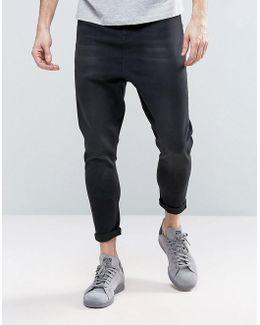 Spray On Drop Crotch Jeans