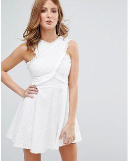 White Broderie Anglasie Dress