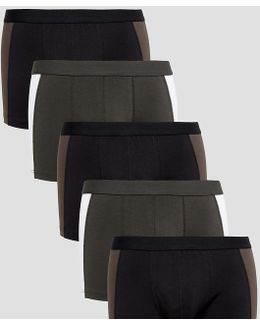 Trunk In Monochrome With Cut And Sew 5 Pack Save