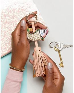 Felicity The Fish Key Ring With Tassel