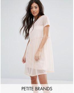 Smock Mesh Dress