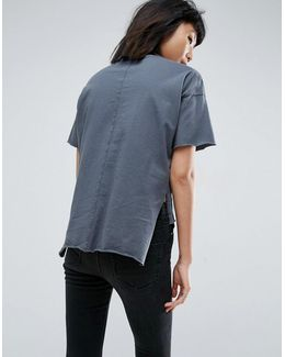 T-shirt With Dip Back