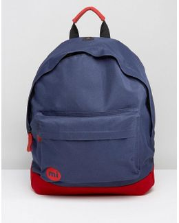 Mi Pac Classic Backpack With Contrast Red