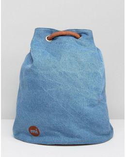 Mi Pac Tumbled Swing Backpack In Denim