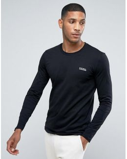 Long Sleeve Top With Logo In Black