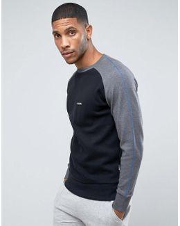 Sweatshirt With Contrast Sleeves In Black