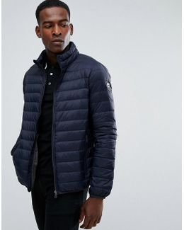 Padded Down Jacket Navy
