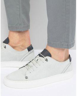 Kiing Embossed Suede Sneakers