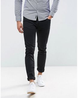 J06 Slim Fit Stretch Gaberdine Jeans Black