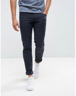 J06 Slim Fit Stretch Gaberdine Jeans Navy