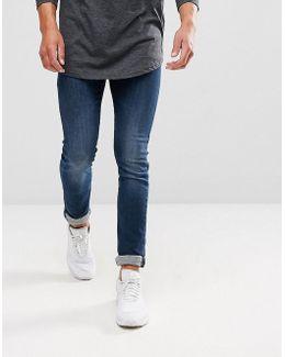 J10 Skinny Fit Stretch Mid Wash Jeans