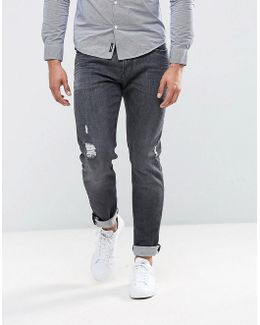 J06 Slim Fit Stretch Grey Distressed Jeans