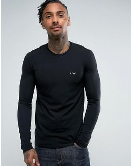 Crew Neck Long Sleeve T-shirt Black