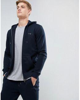 Zip Through Hooded Logo Sweat Navy