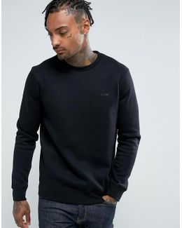 Crew Neck Logo Sweat Black
