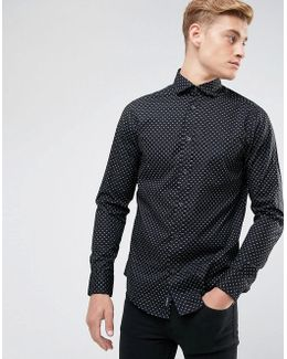 All Over Small Logo Print Shirt Black