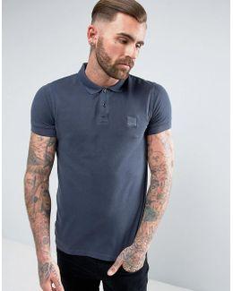 By Hugo Boss Pascha Slim Fit Logo Polo Shirt Navy